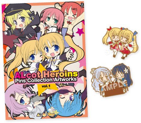ALcot Heroins Pins Collection Artworks Vol.1