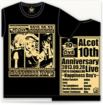 ALcot 10th Anniversarry Live Tシャツ